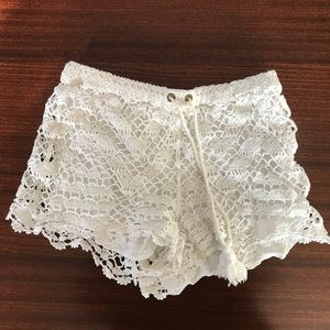 Anthropologie white shorts sz S
